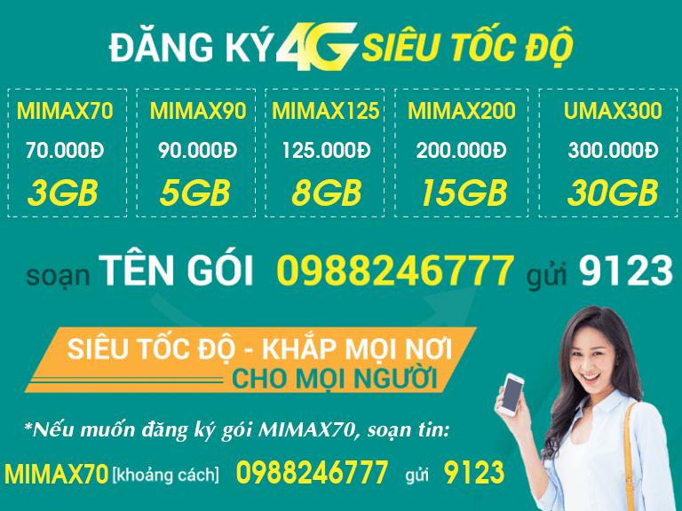 Bảng giá các gói cước 4G Viettel GIÁ RẺ X5 data