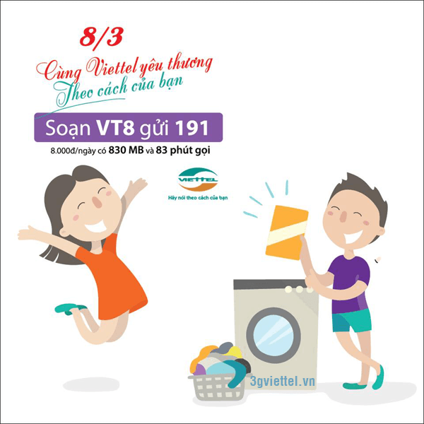 Hướng dẫn cách đăng ký gói cước VT8 của Viettel