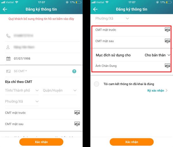 Hướng dẫn kiểm tra cập nhật thông tin trên ứng dụng My Viettel