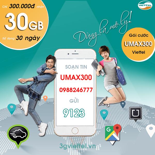 Thông tin chi tiết về gói cước UMAX300 Viettel