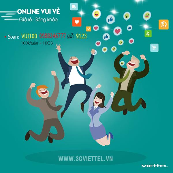 Thông tin chi tiết về gói cước VUI100 của Viettel