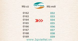 Thời gian triển khai sim 11 số sang sim 10 số của Viettel