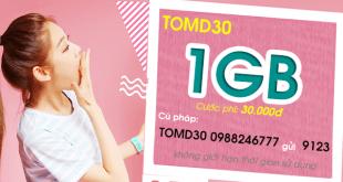 Hướng dẫn đăng ký gói cước TOMD30 của Viettel