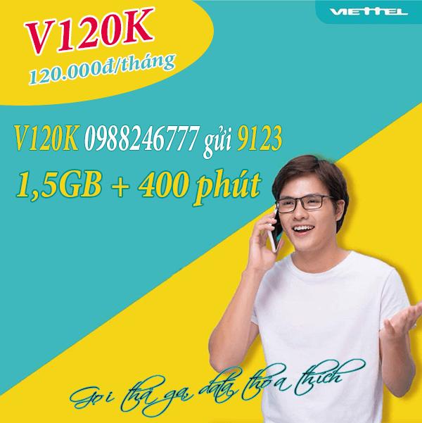 Hướng dẫn cú pháp đăng ký gói cước V120K của Viettel