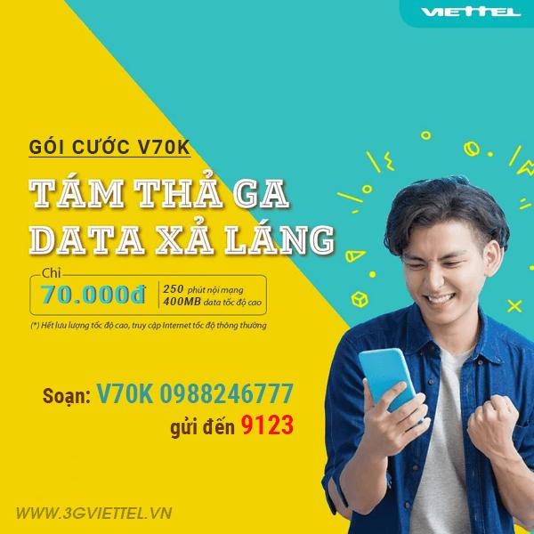 Hướng dẫn đăng ký gói khuyến mãi V70K Viettel