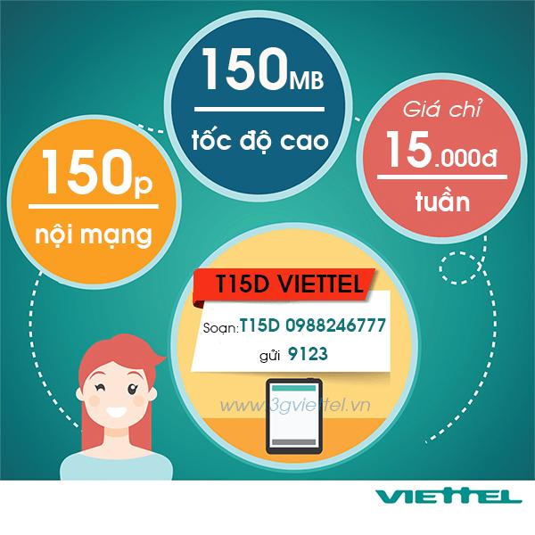 Thông tin chi tiết về gói cước khuyến mãi T15D Viettel