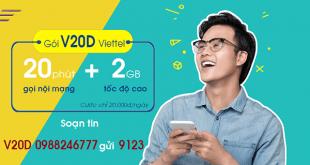 Thông tin chi tiết về gói cước V20D Viettel