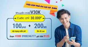 Hướng dẫn đăng ký gói cước V30K của Viettel