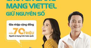 Hướng dẫn cách chuyển đổi mạng giữ số sang Viettel