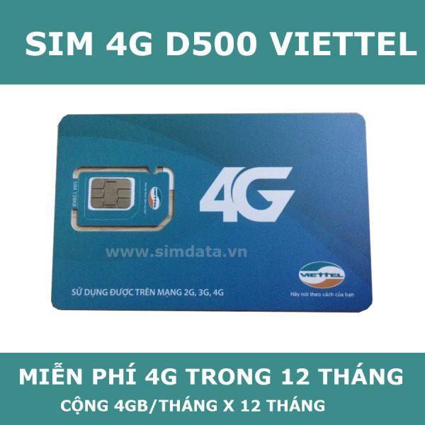 Thông tin chi tiết về sim D500 Viettel
