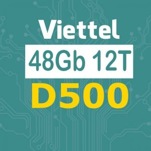 Sim 4G Viettel trọn gói 1 năm (4GB/tháng – Gói D500 Viettel)