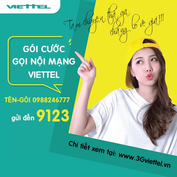 Chi tiết về các gói cước nhắn tin nội mạng của viettel, gói cước gọi nội mạng của Viettel