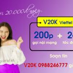 Thông tin chi tiết về gói cước V20K Viettel
