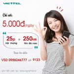 Hướng dẫn cú pháp đăng ký gói cước khuyến mãi V5D của Viettel