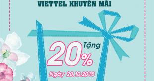 Khuyến mãi của Viettel ngày 20/10/2018 ưu đãi ngày vàng toàn quốc