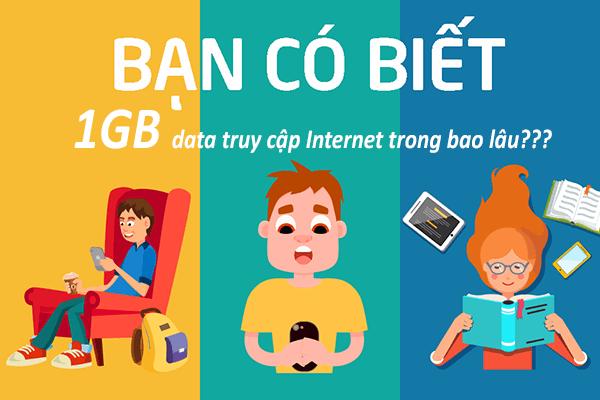 Sử dụng 1GB 2GB 3Gb 4GB data tốc độ cao sẽ truy cập mạng được bao lâu?