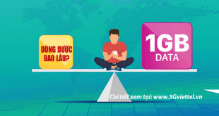 1GB 2GB 3GB 4GB data truy cập được Internet trong bao lâu?