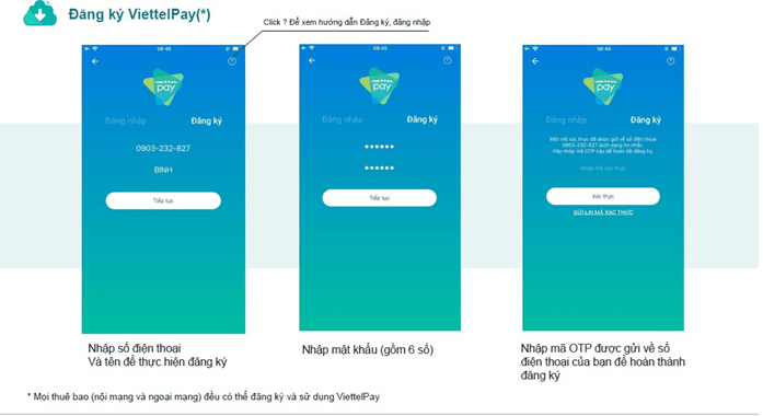 Hướng dẫn cách đăng ký tài khoản ví điện tử ViettelPay