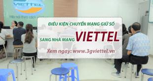 Điều kiện chuyển mạng giữ số nhà mạng khác sang Viettel bạn cần biết
