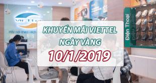 Ưu đãi 20% tiền nạp vào ngày ngày khi tham gia Viettel khuyến mãi 10/1/2019