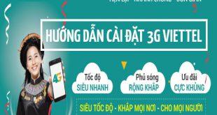 Hướng dẫn cài đặt cấu hình 3G viettel