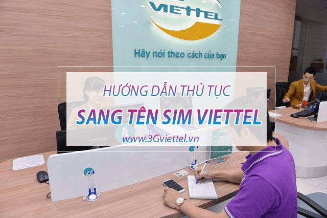Làm thế nào để sang tên sim của Viettel?