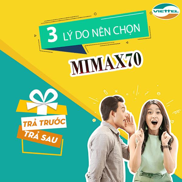 3 lý do nên chọn đăng ký gói Mimax70 viettel