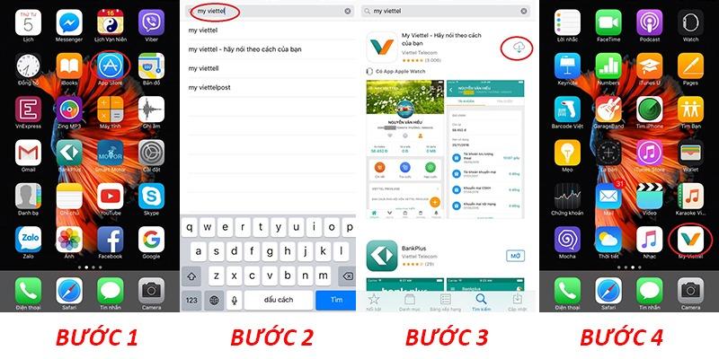 Cách cài đặt ứng dụng My Viettel trên điện thoại Iphone