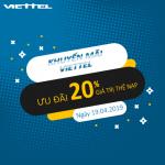 Chương trình khuyến mãi Viettel ngày 19/4/2019 ưu đãi ngày vàng toàn quốc