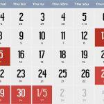 Lịch nghĩ lễ 30/4, 1/5 và giổ tổ Hùng Vương năm 2019, người lao động nghĩ tổng cộng 8 ngày