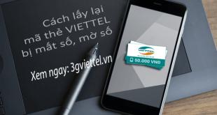 Làm thế nào lấy lại mã số thẻ cào Viettel bị mất số, mờ số?