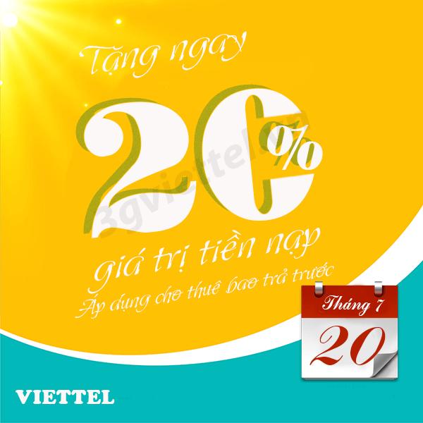Chi tiết chương trình Viettel khuyến mãi ngày 20/7/2019 trên toàn quốc