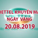 Thông tin chi tiết về Viettel khuyến mãi ngày 20/8/2019