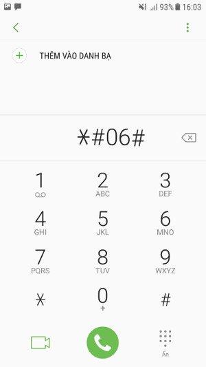 Cách kiểm tra imei Samsung, check thời gian bảo hành Samsung