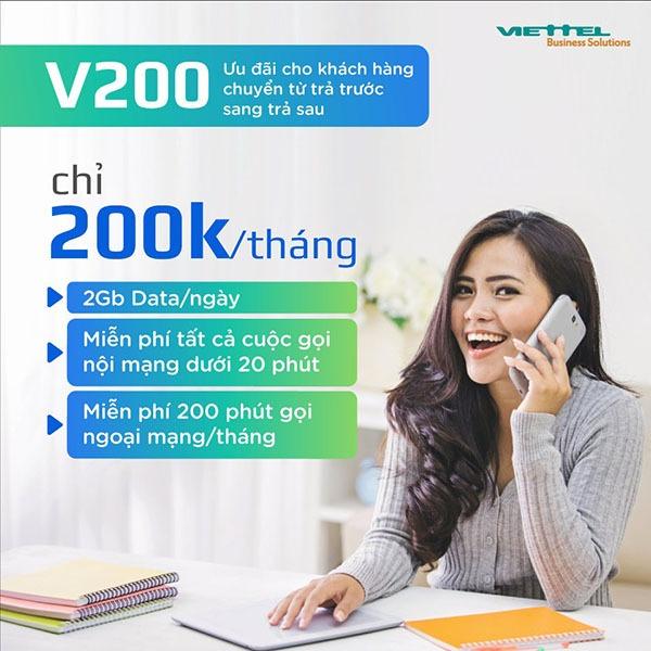 Hướng dẫn đăng ký gói cước V200 Viettel