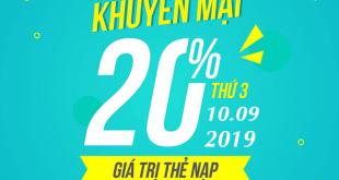 Viettel khuyến mãi ngày 10/9/2019 ưu đãi ngày vàng toàn quốc