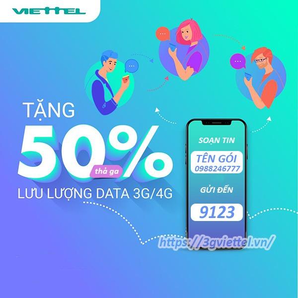 Hướng dẫn cú pháp đăng ký gói 3G trọn gói của Viettel