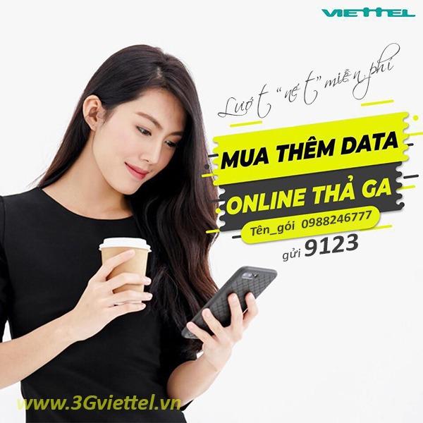 Cách mua thêm dung lượng 4G Viettel tốc độ cao