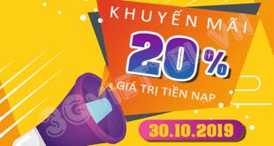 Chương trình Viettel khuyến mãi ngày 30/10/2019 ưu đãi ngày vàng toàn quốc