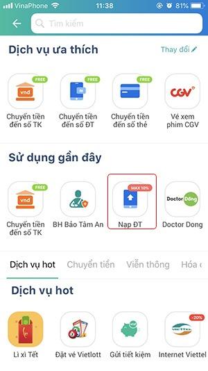 Hướng dẫn nạp tiền Viettel bằng thẻ cào, nap tiền Viettel Online