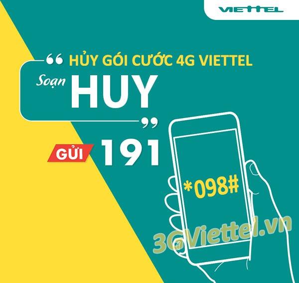Hướng dẫn cách hủy gói cước 4G Viettel miễn phí