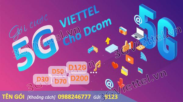 Hướng dẫn cách đăng ký gói cước Dcom 5G Viettel