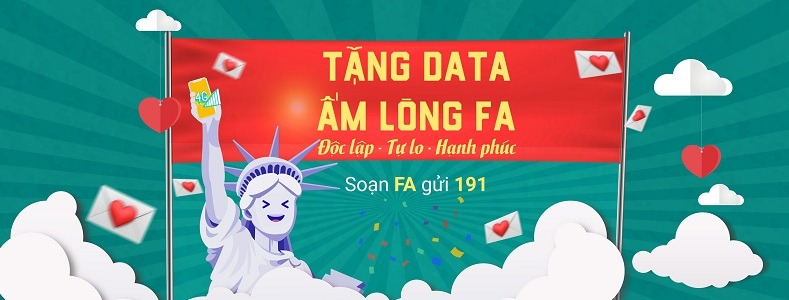 Ưu đãi 1402MB data khi đăng ký gói FA Viettel