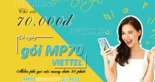 Hướng dẫn đăng ký gói cước mp70 Viettel