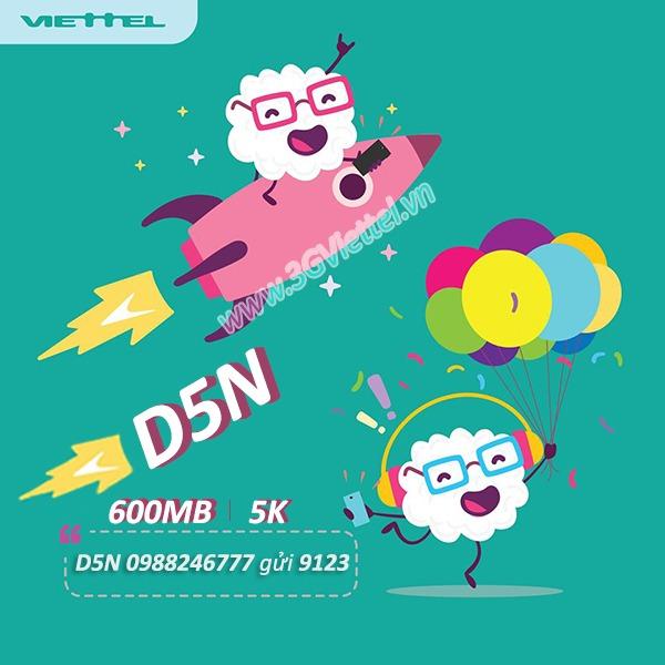 Hướng dẫn cách đăng ký gói cước D5N Viettel