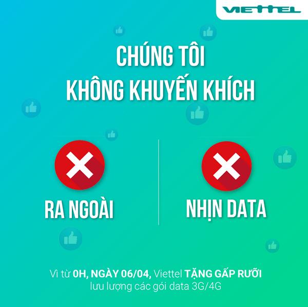 Viettel khuyến mãi thêm 50% dung lượng data tốc độ cao trên gói 4G với giá cước không đổi