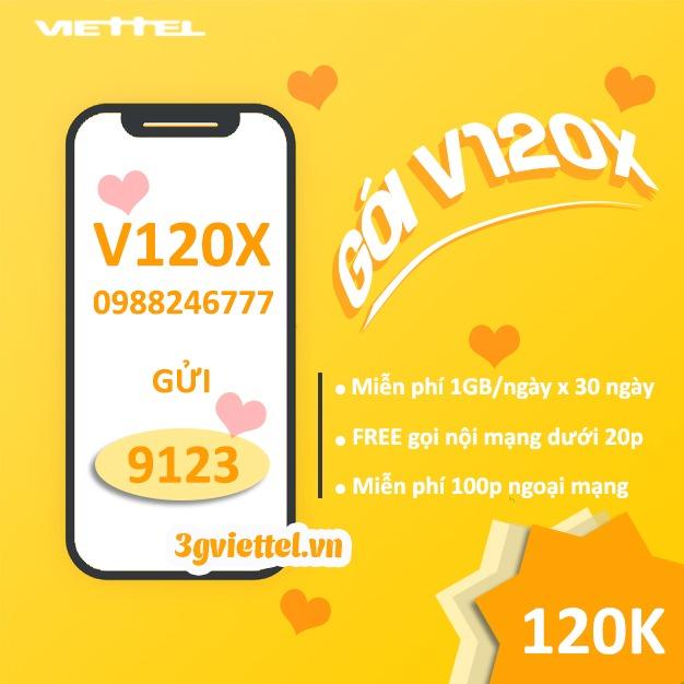 Hướng dẫn cách đăng ký gói cước V120X Viettel