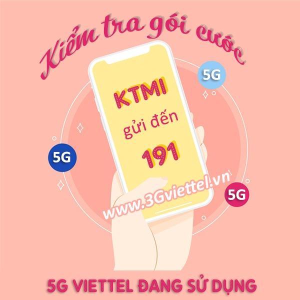 Cách kiểm tra gói cước 5G Viettel đang sử dụng