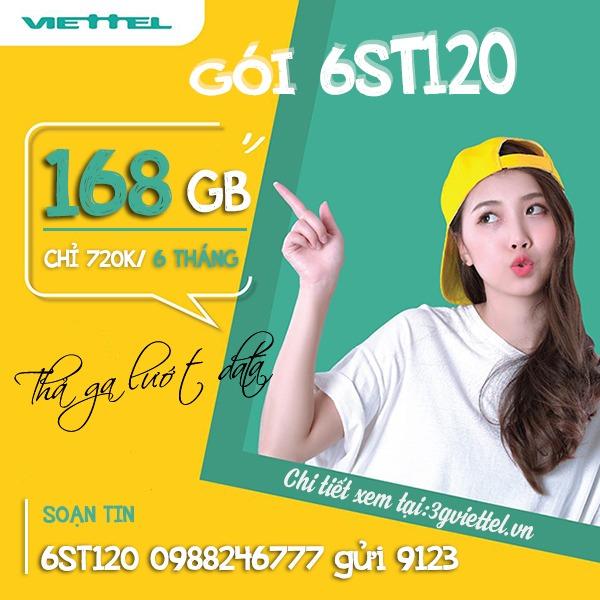 Hướng dẫn cách đăng ký gói cước 6ST120 Viettel
