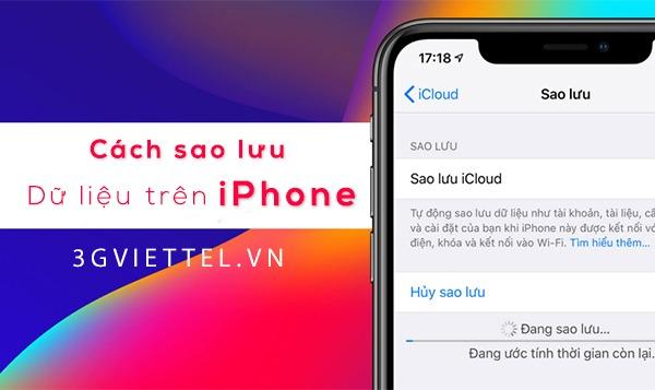 Hướng dẫn cách sao lưu dữ liệu trên iPhone